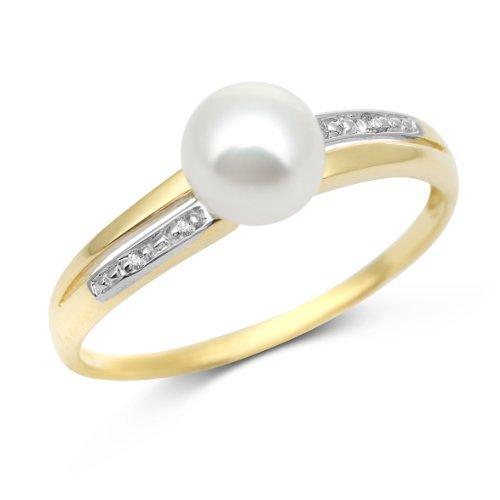 Miore - MT059R4 - Bague Femme - Or Jaune 375/1000 (9 carats) 1.12 gr - Diamant/Perles d'eau douce - T 54 1 Bijoutier Boutique Bijou Miore Bague Femme en Or jaune 375/1000 Poids total du métal: 1.12 gr Type de pierre : Diamant et Perle et Cristal