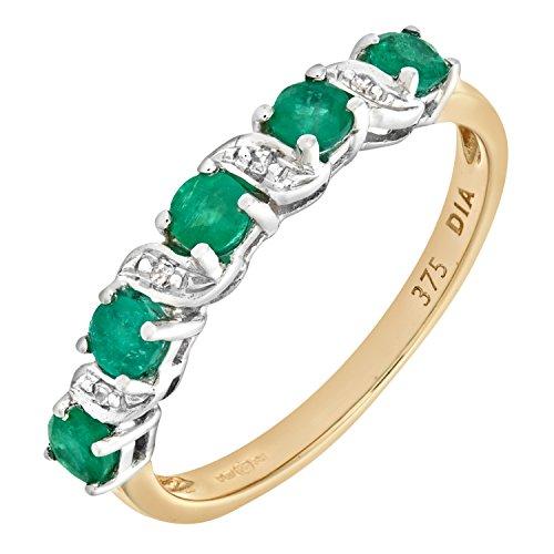 Naava - PR06899Y EM - O - Bague Femme - Or jaune (9 cts) 1.8 Gr - Diamant - Emeraude 0.005 Cts - T 55.5 2 Bijoutier Boutique Bague Femme en Or jaune 375/1000 Poids total du métal: 1.8 gr Type de pierre : Diamant et Emeraude