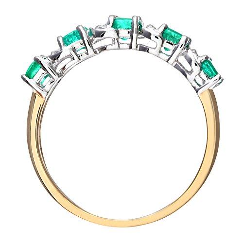 Naava - PR06899Y EM - O - Bague Femme - Or jaune (9 cts) 1.8 Gr - Diamant - Emeraude 0.005 Cts - T 55.5 5 Bijoutier Boutique Bague Femme en Or jaune 375/1000 Poids total du métal: 1.8 gr Type de pierre : Diamant et Emeraude