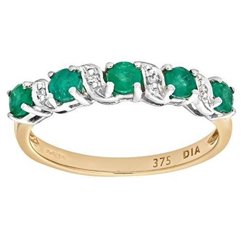 Naava - PR06899Y EM - O - Bague Femme - Or jaune (9 cts) 1.8 Gr - Diamant - Emeraude 0.005 Cts - T 55.5 1 Bijoutier Boutique Bague Femme en Or jaune 375/1000 Poids total du métal: 1.8 gr Type de pierre : Diamant et Emeraude