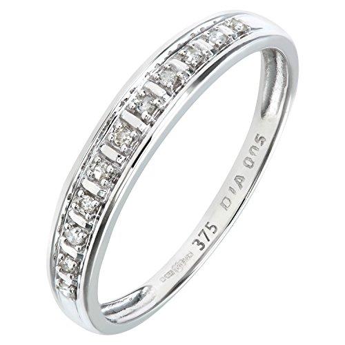 Bague Femme - Or Blanc 375/1000 (9 Cts) 1 Gr - Diamant 0.005 Cts - T 50 2 Bijoutier Boutique Bague Femme en Or blanc 375/1000 Poids total du métal: 1 gr Type de pierre : Diamant