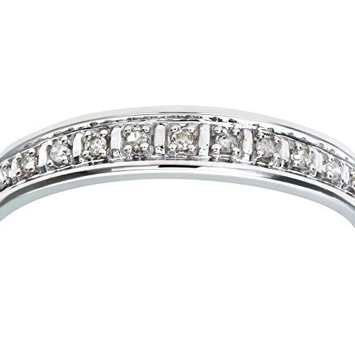 Bague Femme - Or Blanc 375/1000 (9 Cts) 1 Gr - Diamant 0.005 Cts - T 50 3 Bijoutier Boutique Bague Femme en Or blanc 375/1000 Poids total du métal: 1 gr Type de pierre : Diamant