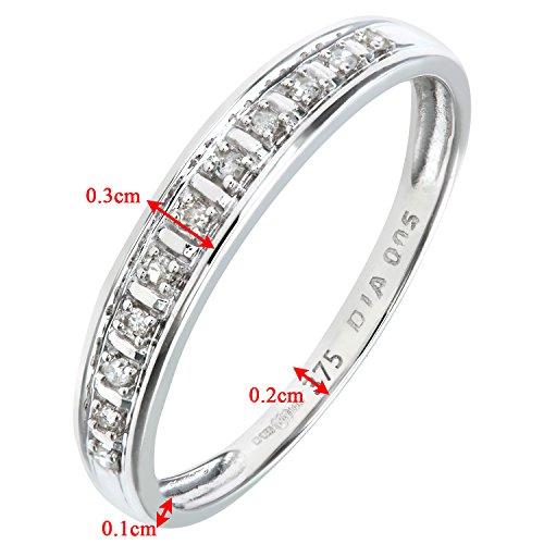 Bague Femme - Or Blanc 375/1000 (9 Cts) 1 Gr - Diamant 0.005 Cts - T 50 4 Bijoutier Boutique Bague Femme en Or blanc 375/1000 Poids total du métal: 1 gr Type de pierre : Diamant