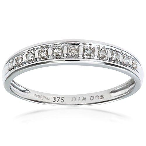 Bague Femme - Or Blanc 375/1000 (9 Cts) 1 Gr - Diamant 0.005 Cts - T 50 1 Bijoutier Boutique Bague Femme en Or blanc 375/1000 Poids total du métal: 1 gr Type de pierre : Diamant