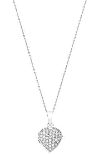 Carissima Gold - Collier - Femme - Coeur - Or blanc (9 cts) 4.4 Gr - Oxyde de zirconium 3 Bijoutier Boutique Bijou femme en or blanc Poids total du métal : 4,4 g Type de pierre : oxyde de zirconium