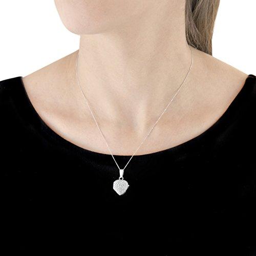 Carissima Gold - Collier - Femme - Coeur - Or blanc (9 cts) 4.4 Gr - Oxyde de zirconium 5 Bijoutier Boutique Bijou femme en or blanc Poids total du métal : 4,4 g Type de pierre : oxyde de zirconium
