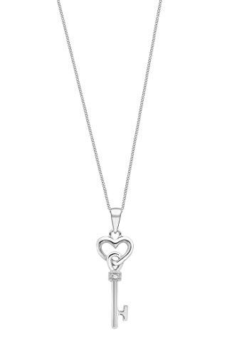 Carissima Gold - Collier avec pendentif - Femme - Or blanc (9 cts) 1.85 Gr - Diamant 3 Bijoutier Boutique Bijou femme en or blanc Poids total du métal : 1,85 g Type de pierre : diamant