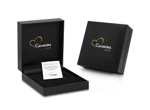 Carissima Gold - Collier avec pendentif - Femme - Or blanc (9 cts) 1.85 Gr - Diamant 5 Bijoutier Boutique Bijou femme en or blanc Poids total du métal : 1,85 g Type de pierre : diamant