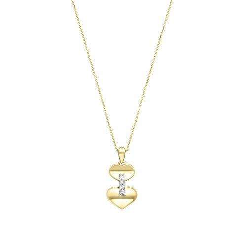 Carissima Gold - Femme - Collier avec pendentif coeur - Or jaune - (9 Carat) - Oxyde de zirconium - 1.44.9244 2 Bijoutier Boutique Bijou femme en or jaune Poids total du métal : 1,63 g Type de pierre : oxyde de zirconium