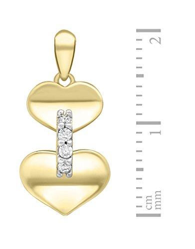 Carissima Gold - Femme - Collier avec pendentif coeur - Or jaune - (9 Carat) - Oxyde de zirconium - 1.44.9244 4 Bijoutier Boutique Bijou femme en or jaune Poids total du métal : 1,63 g Type de pierre : oxyde de zirconium