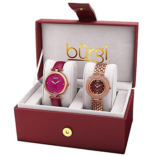 Burgi - Femme - BUR152RG - Cadran Marron - Marron - Bracelet Cuir 1 Bijoutier Boutique