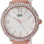 Burgi Femme Montre à quartz avec cadran argenté, affichage analogique et bracelet en alliage Multicolore bur140rg 5 Bijoutier Boutique