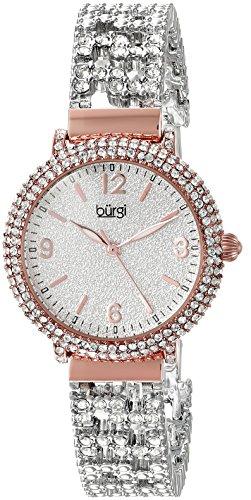 Burgi Femme Montre à quartz avec cadran argenté, affichage analogique et bracelet en alliage Multicolore bur140rg 1 Bijoutier Boutique