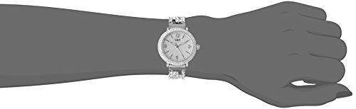 Burgi - Femme - Quartz Affichage - Analogique - Cadran Argenté - Argent - Bracelet Métal 2 Bijoutier Boutique