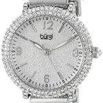 Burgi - Femme - Quartz Affichage - Analogique - Cadran Argenté - Argent - Bracelet Métal 5 Bijoutier Boutique
