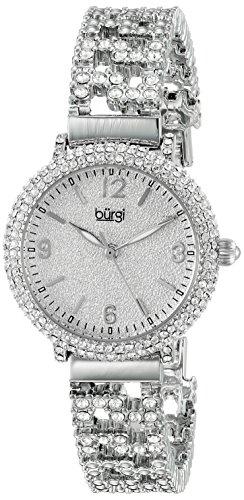 Burgi - Femme - Quartz Affichage - Analogique - Cadran Argenté - Argent - Bracelet Métal 1 Bijoutier Boutique