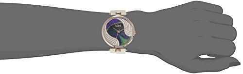 Burgi - Femme - Quartz Affichage - Analogique - Cadran Violet - Beige - Bracelet Cuir 2 Bijoutier Boutique