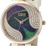 Burgi - Femme - Quartz Affichage - Analogique - Cadran Violet - Beige - Bracelet Cuir 5 Bijoutier Boutique