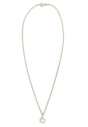 DIAMORE- Colliers- Femmes- Or jaune- 14 k (585)- Diamant- Blanc- 0.1 ct. - Perle d'eau douce- Blanc- 45-0109251515_45 3 Bijoutier Boutique Conçu avec élégance en ARGENT MASSIF finement poli (925/1000), suffisament durable pour résister à l'épreuve du temps. Ces bijoux élégants se présentent dans une jolie boîte à cadeaux. Le cadeau IDÈAL pour un ami ou un être cher. ARTISANAT DE HAUTE QUALITÉ notre équipe qualifiée et motivée, qui se trouve sur la superbe île de Bali, possède de vastes connaissances dans le domaine de la création de bijoux durables.