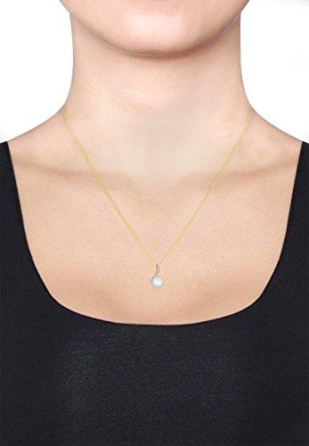 DIAMORE- Colliers- Femmes- Or jaune- 14 k (585)- Diamant- Blanc- 0.1 ct. - Perle d'eau douce- Blanc- 45-0109251515_45 5 Bijoutier Boutique Conçu avec élégance en ARGENT MASSIF finement poli (925/1000), suffisament durable pour résister à l'épreuve du temps. Ces bijoux élégants se présentent dans une jolie boîte à cadeaux. Le cadeau IDÈAL pour un ami ou un être cher. ARTISANAT DE HAUTE QUALITÉ notre équipe qualifiée et motivée, qui se trouve sur la superbe île de Bali, possède de vastes connaissances dans le domaine de la création de bijoux durables.