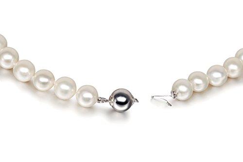 Collier perles d'eau douce 9mm attache perle