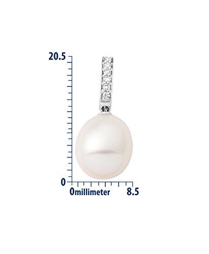 Miore - MG8016N - Collier Femme - Or Blanc 18 Cts 750/1000 2.09 Gr - Perle d'eau douce 3 Bijoutier Boutique Or Blanc 18 carats 2.09 grams Pierre principale :