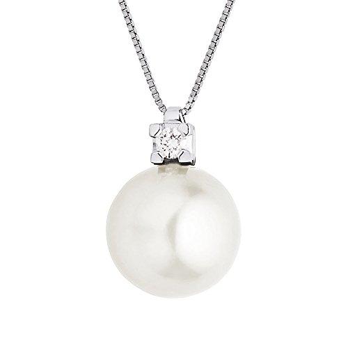 Chaîne Maille Vénitienne avec perle de culture 1 Bijoutier Boutique Bijou pour Femme en Argent Argent 925/1000, 1.7 gr Longueur : 42 cm Type de pierre : Perle