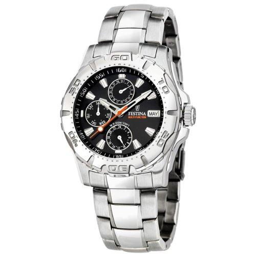 Festina - F16242-9 - Montre Homme - Multifonctions - Bracelet acier 2 Bijoutier Boutique Montre Mixte à mouvement Quartz - Bracelet en Acier inoxydable Argent Type d'affichage : Analogique Diamètre du cadran : 41 millimètres