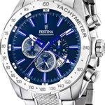 Festina - F16488-B - Montre Homme - Quartz Chronographe - Cadran Bleu - Bracelet Acier Argent 2 Bijoutier Boutique Montre homme Montre chronographe homme bracelet en acier inoxydable