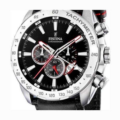 Festina - F16489/5 - Montre Homme - Quartz - Chronographe - Bracelet Cuir Noir 2 Bijoutier Boutique Montre pour Homme à mouvement Quartz - Bracelet en Cuir Noir Type d'affichage : Chronographe Diamètre du cadran : 46 millimètres