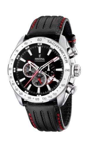 Festina - F16489/5 - Montre Homme - Quartz - Chronographe - Bracelet Cuir Noir 1 Bijoutier Boutique Montre pour Homme à mouvement Quartz - Bracelet en Cuir Noir Type d'affichage : Chronographe Diamètre du cadran : 46 millimètres