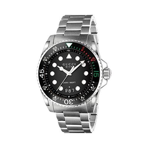 Montre Hommes-Gucci-YA136208 2 Bijoutier Boutique Mouvement à quartz suisse Verre saphir Boîtier en acier inoxydable et bracelet