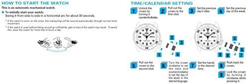 Seiko - SNK803 - Montre Homme - Automatique - Analogique - Bracelet Tissu Beige 2 Bijoutier Boutique Montre, Garantie, Boîte Original ATTENTION ! Il s'agit d'une montre automatique pour Homme qui fonctionne sans pile Instruction de mise en route : Ce modèle a besoin d'être remonté manuellement afin de lancer le mécanisme qui ensuite se remonte avec le mouvement du poignet