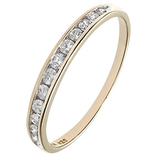 Bague Femme - Or Jaune 375/1000 (9 Cts) 1.05 Gr - Diamant 0.02 Cts - T 53 2 Bijoutier Boutique Bague Femme en Or jaune 375/1000 Poids total du métal: 1.05 gr Type de pierre : Diamant