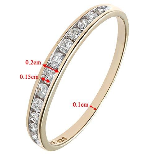 Bague Femme - Or Jaune 375/1000 (9 Cts) 1.05 Gr - Diamant 0.02 Cts - T 53 4 Bijoutier Boutique Bague Femme en Or jaune 375/1000 Poids total du métal: 1.05 gr Type de pierre : Diamant