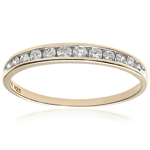 Bague Femme - Or Jaune 375/1000 (9 Cts) 1.05 Gr - Diamant 0.02 Cts - T 53 1 Bijoutier Boutique Bague Femme en Or jaune 375/1000 Poids total du métal: 1.05 gr Type de pierre : Diamant