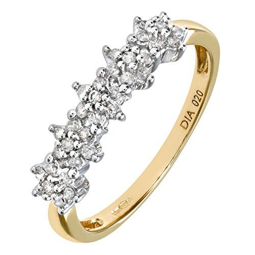 Bague Femme - Or jaune (9 cts) 1.4 Gr - Diamant 0.005 Cts - T 49 - PR06551Y-J 2 Bijoutier Boutique Bague Femme en Or jaune 375/1000 Poids total du métal: 1.2 gr Type de pierre : Diamant