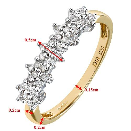 Bague Femme - Or jaune (9 cts) 1.4 Gr - Diamant 0.005 Cts - T 49 - PR06551Y-J 4 Bijoutier Boutique Bague Femme en Or jaune 375/1000 Poids total du métal: 1.2 gr Type de pierre : Diamant