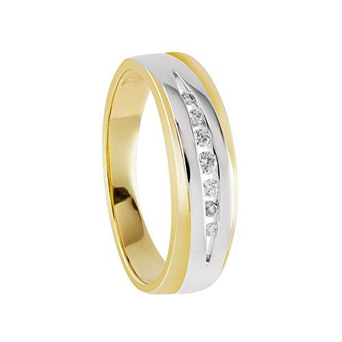 Bella Donna - 105082 - Bague Femme - Or Jaune 333/1000 (8 Cts) 3.1 Gr - Diamant - T 50 (15.9) 1 Bijoutier Boutique Bague Femme en Or jaune 333/1000 Poids total du métal: 3.1 gr Type de pierre : Diamant