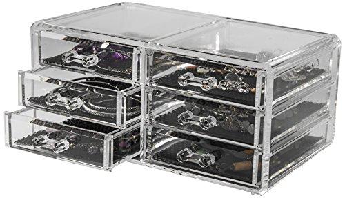 Compactor Bath RAN6044 Range Bijoux 6 Tiroirs Polystyrène et Tissu Transparent 1 Bijoutier Boutique Matière : Polystyrène et Tissu Couleur : Transparent Dimensions : 23,8 x 15 x 11 cm