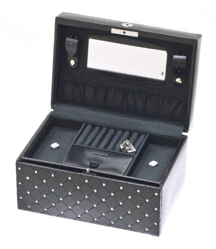 Davidt's - 354255.01 - Boîte à bijoux Femme - Noir 1 Bijoutier Boutique Couleur de la boîte ou du coffret à bijoux : Noir Dimensions de la boîte ou du coffret à bijoux : 24 x 16.5 x 12.5 cm