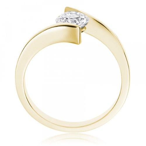 Diamond Manufacturers - Bague de fiancailles avec diamant Rond Femme - Or jaune 750/1000 (18 cts) - Diamant 1.02 ct 4 Bijoutier Boutique Or jaune 750/1000 (18 cts) 1.02 carat Couleur-E Pureté-IF Bague de fiancailles avec Diamant certifié de qualité supérieure. Le diamant est serti sur une monture à en Or jaune 750/1000 (18 cts).