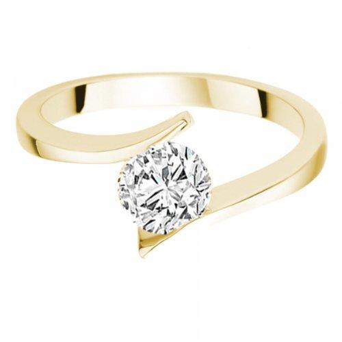 Diamond Manufacturers - Bague de fiancailles avec diamant Rond Femme - Or jaune 750/1000 (18 cts) - Diamant 1.02 ct 5 Bijoutier Boutique Or jaune 750/1000 (18 cts) 1.02 carat Couleur-E Pureté-IF Bague de fiancailles avec Diamant certifié de qualité supérieure. Le diamant est serti sur une monture à en Or jaune 750/1000 (18 cts).
