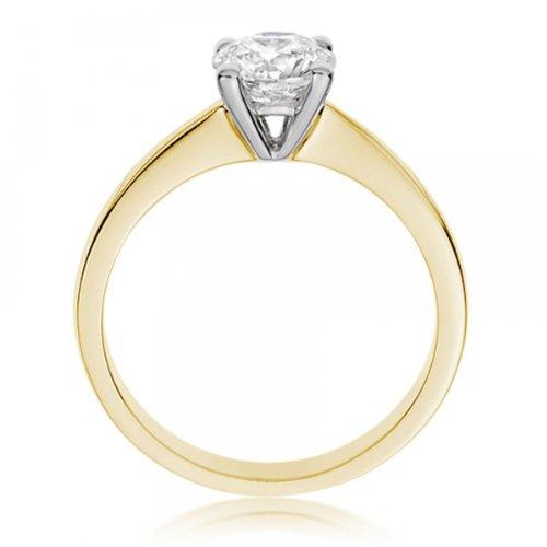 Diamond Manufacturers - Bague de fiancailles avec diamant Rond Femme - Or jaune 750/1000 (18 cts) - Diamant 1.02 ct 8 Bijoutier Boutique Or jaune 750/1000 (18 cts) 1.02 carat Couleur-E Pureté-IF Bague de fiancailles avec Diamant certifié de qualité supérieure. Le diamant est serti sur une monture à en Or jaune 750/1000 (18 cts).
