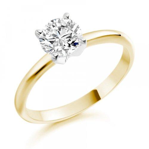 Diamond Manufacturers - Bague de fiancailles avec diamant Rond Femme - Or jaune 750/1000 (18 cts) - Diamant 1.94 ct 7 Bijoutier Boutique Or jaune 750/1000 (18 cts) 1.94 carat Couleur-E Pureté-VS2 Bague de fiancailles avec Diamant certifié de qualité supérieure. Le diamant est serti sur une monture à Griffes en Or jaune 750/1000 (18 cts).