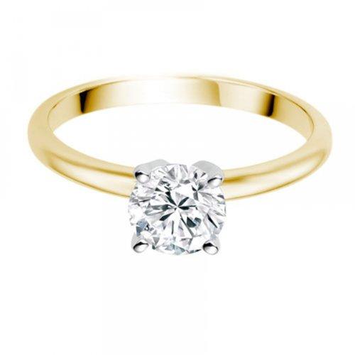 Diamond Manufacturers - Bague de fiancailles avec diamant Rond Femme - Or jaune 750/1000 (18 cts) - Diamant 1.94 ct 9 Bijoutier Boutique Or jaune 750/1000 (18 cts) 1.94 carat Couleur-E Pureté-VS2 Bague de fiancailles avec Diamant certifié de qualité supérieure. Le diamant est serti sur une monture à Griffes en Or jaune 750/1000 (18 cts).