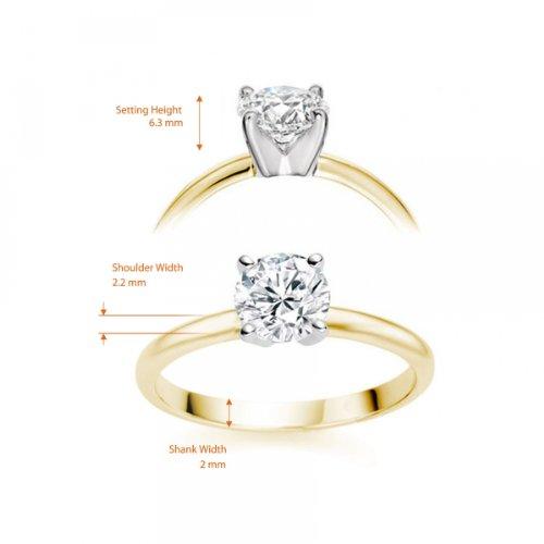 Diamond Manufacturers - Bague de fiancailles avec diamant Rond Femme - Or jaune 750/1000 (18 cts) - Diamant 1.94 ct 10 Bijoutier Boutique Or jaune 750/1000 (18 cts) 1.94 carat Couleur-E Pureté-VS2 Bague de fiancailles avec Diamant certifié de qualité supérieure. Le diamant est serti sur une monture à Griffes en Or jaune 750/1000 (18 cts).