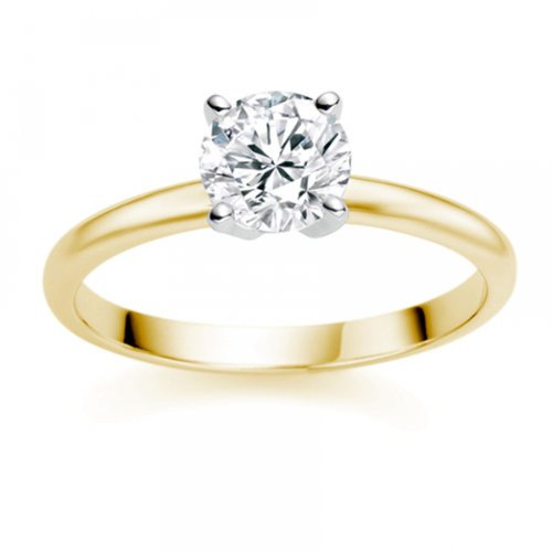 Diamond Manufacturers - Bague de fiancailles avec diamant Rond Femme - Or jaune 750/1000 (18 cts) - Diamant 1.94 ct 1 Bijoutier Boutique Or jaune 750/1000 (18 cts) 1.94 carat Couleur-E Pureté-VS2 Bague de fiancailles avec Diamant certifié de qualité supérieure. Le diamant est serti sur une monture à Griffes en Or jaune 750/1000 (18 cts).