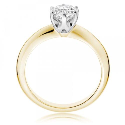 Diamond Manufacturers - Bague de fiancailles avec diamant Rond Femme - Or jaune 750/1000 (18 cts) - Diamant 1.30 ct 3 Bijoutier Boutique Or jaune 750/1000 (18 cts) 1.30 carat Couleur-G Pureté-VVS2 Bague de fiancailles avec Diamant certifié de qualité supérieure. Le diamant est serti sur une monture à Griffes en Or jaune 750/1000 (18 cts).