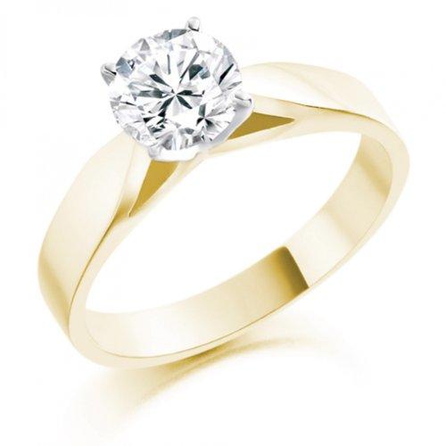 Diamond Manufacturers - Bague de fiancailles avec diamant Rond Femme - Or jaune 750/1000 (18 cts) - Diamant 1.31 ct 3 Bijoutier Boutique Or jaune 750/1000 (18 cts) 1.31 carat Couleur-E Pureté-VVS2 Bague de fiancailles avec Diamant certifié de qualité supérieure. Le diamant est serti sur une monture à Griffes en Or jaune 750/1000 (18 cts).